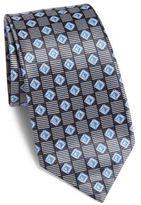 Ermenegildo Zegna Diamond Patterned Silk Tie