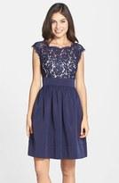 Eliza J Women's Lace & Faille Dress