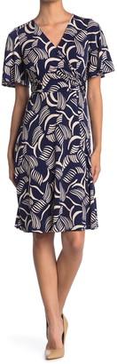 Donna Morgan V-Neck Wrap Dress