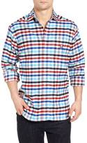 Psycho Bunny Check Flannel Woven Slim Fit Shirt