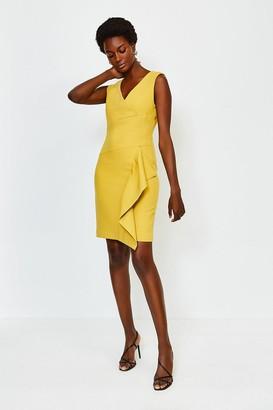 Karen Millen Wrap Waterfall Short Dress