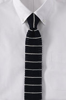 Classic Men's Breton Knit Stripe Necktie-Brown