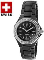 Peugeot Women's PS4896BS Ceramic Watch with Link Bracelet