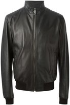 Dolce & Gabbana leather zip jacket - men - Cotton/Goat Skin/Lamb Skin/Bos Taurus - 52