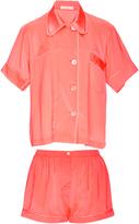 Araks Silk Coral Shirt and Shorts Pajama Set