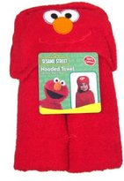 Sesame Street Elmo Kids Hooded Bath, Pool or Beach Towel - 23x51 Inches