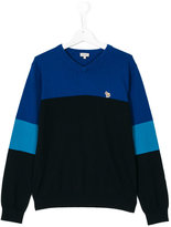 Paul Smith teen colour block sweater