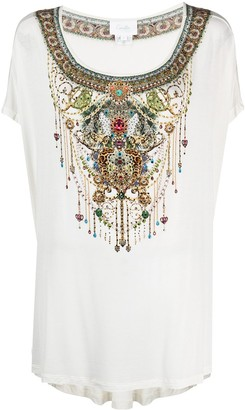 Camilla embellished jewel-print T-shirt