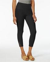 Style&Co. Style & Co Lattice-Hem Tummy Comfort Capri Leggings, Only at Macy's