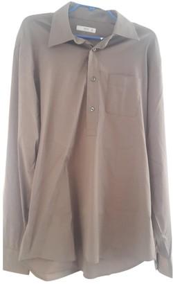 Prada Khaki Cotton Shirts