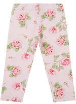 MonnaLisa Rose Print Jersey Leggings