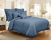 Veratex Gotham Collection 100% Linen Made in the U.S.A. 3-Piece Bedroom Duvet Cover Set, Queen Size, Indigo