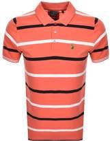 Luke 1977 Stripe New Mead Polo T Shirt Red