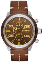Diesel Men's DZ4440 Padlock Stainless Steel Leather Watch