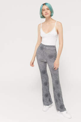 Urban Outfitters Clarissa Printed High-Rise Flare Pant