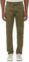 Barneys New York Men's Cotton Twill Slim-Fit Chinos-GREEN, DARK GREEN