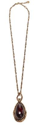 Alexander McQueen Garnet Stone Pendant Necklace