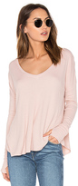 Feel The Piece Robin Scoop Neck Tee in Blush.