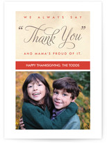 Minted Mama's Thank You Thanksgiving Cards