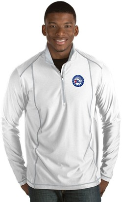 Antigua Men's Philadelphia 76ers Tempo Quarter-Zip Pullover