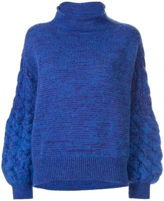 Coohem mohair cable knit jumper
