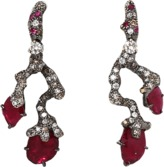 Arunashi Ruby And Diamond Branch Earrings