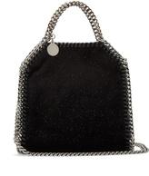 Stella McCartney Tiny Falabella glitter and velvet cross-body bag