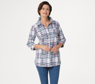 Joan Rivers Classics Collection Joan Rivers Patchwork Plaid Tunic Top