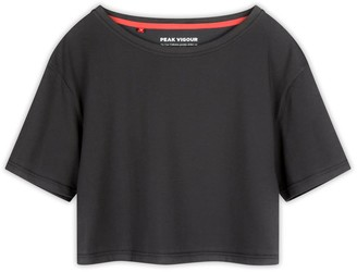 Core Collection Crop Tee - Charcoal