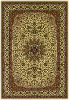 Couristan Izmir Royal Kashan Rug In Ivory - 9 Foot 2 Inch x 12 Foot 6 Inch