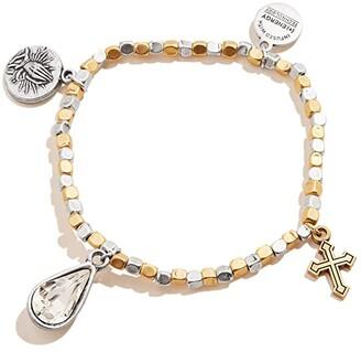 Alex and Ani Faith Hope Multi Charm Stretch Bracelet (Silver) Bracelet