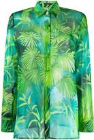 Versace jungle print silk shirt