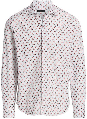 Saks Fifth Avenue COLLECTION Floral & Sunglasses Print Sport Shirt