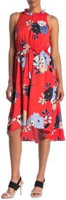 Rachel Roy Concetta Floral Waist Tie Dress