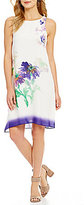 M.S.S.P. Watercolor Floral Trapeze Shift Dress
