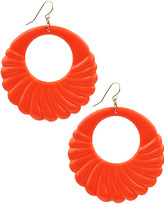 Neon Scallop Hoop Earrings