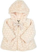 American Widgeon AMERICAN WIDGEON FAUX-FUR COAT-CREAM SIZE 9