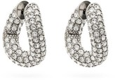 Balenciaga Loop Crystal Hoop Earrings - Womens - Crystal