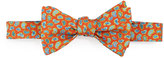 Ted Baker Micro-Paisley Silk Bow Tie, Pine/Orange