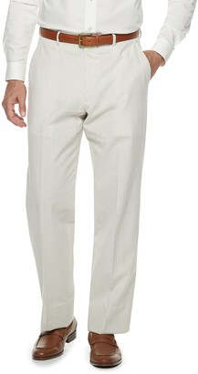 Men's Palm Beach Oxford Classic-Fit Seersucker Flat-Front Suit Pants
