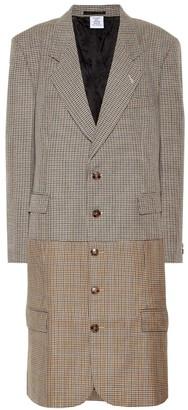 Vetements Houndstooth virgin wool coat