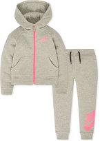 Nike 2-Pc. Hoodie & Jogger Pants Set, Toddler & Little Girls (2T-6X)