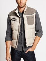 GUESS Cire Mix and Patch Vest