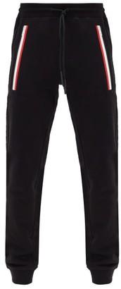 Moncler Tricolour-zip Cotton-jersey Track Pants - Black