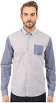 Lindbergh Long Sleeve Shirt w/ Contrast