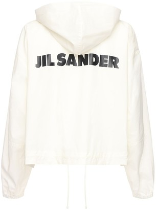Jil Sander Cotton Windbreaker Jacket W/ Back Logo