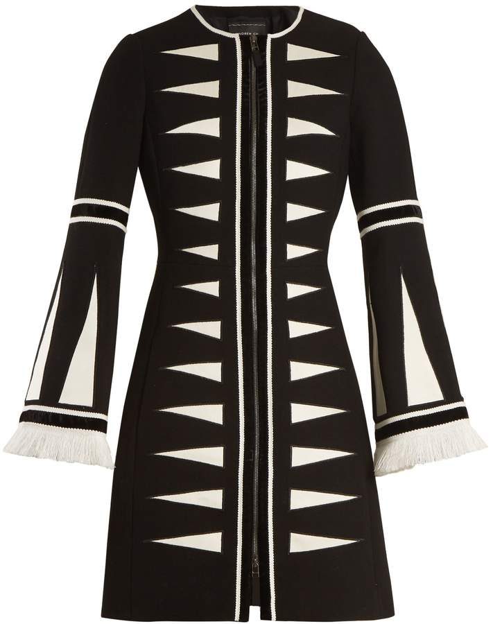 Andrew Gn Geometric-appliqué wool-blend coat