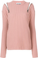 Moschino zipped shoulder jumper