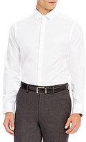 Hart Schaffner Marx Dobby Solid Long-Sleeve Woven Shirt