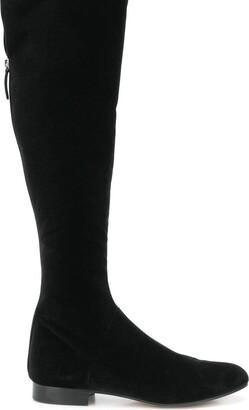 Alberta Ferretti Velvet Knee High Boots